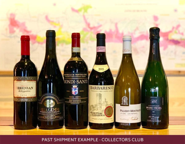 6 international wines past shipment