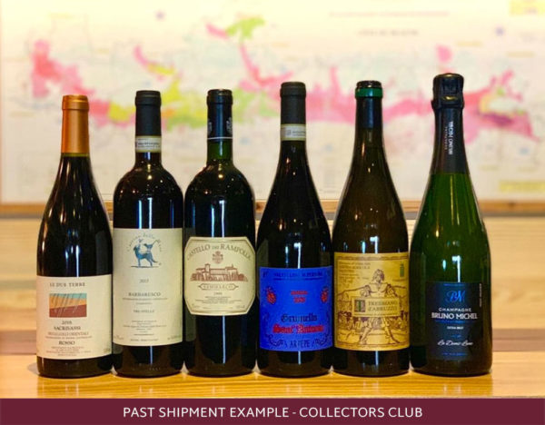 past shipment example of 6 international wines
